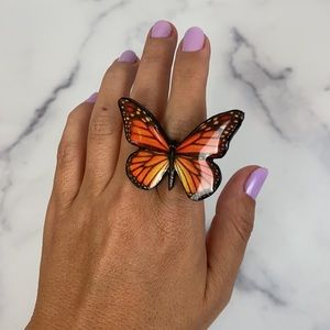 Monarch Butterfly ring - adjustable